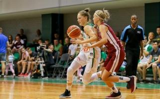Lietuvaitės nusileido latvėms ir kovos dėl 11 -os vietos