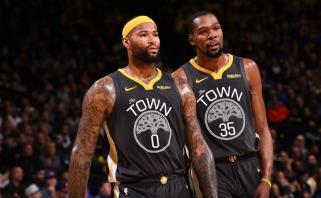 """""""Warriors"""" turi pagrindo nerimui: Durantas ir Cousinsas praleis mažiausias dar trejas rungtynes"""