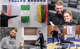 """D.Sabonis pakvietė į ekskursiją po """"Pacers"""" valdas, pristatė merginą ir surengė vėliavų testą"""