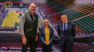 Sporto ministrės apsilankymo Krepšinio namuose metu aptarti opūs klausimai