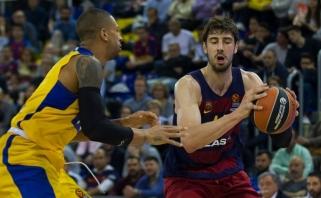 """""""Barcelona"""" namie po atkaklios kovos palaužė """"Maccabi"""" krepšininkus"""