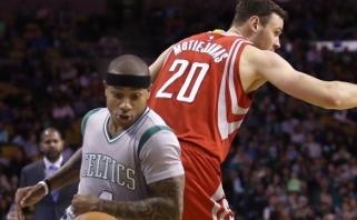 "NBA: D.Motiejūno šūviai pro šalį, nesustabdomas ""Warriors"" duetas ir K.Porzingio šou"