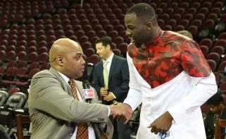 """D.Greenas Ch.Barkley pašaipas pavadino pavydu, o """"Raptors"""" pergalę - neįmanoma, jei ne KD trauma"""