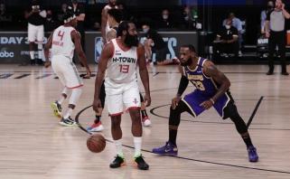 """NBA lygoje – dar viena netikėta serijos pradžia: """"Lakers"""" neprilygo """"Rockets"""""""