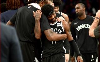 """Dončičius ir Porzingis nepaliko vilčių """"Wizards"""", Irvingas Brukline debiutavo pusšimčiu taškų"""