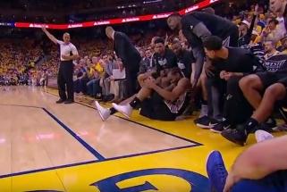 """Didžiulį pranašumą iššvaistę """"Spurs"""" nusileido """"Warriors"""" ir neteko K.Leonardo"""
