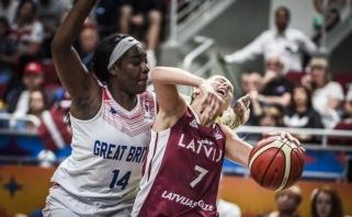 """""""Eurobasket"""" starte šeimininkės latvės gavo skaudų antausį"""