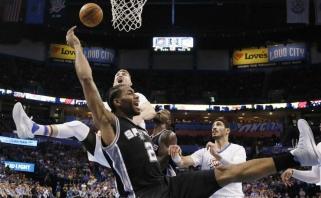 """""""Spurs"""" paliekančios žvaigždės K.Leonardo kantrybės taurę perpildė T.Parkeris?"""