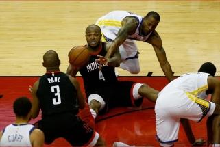 """""""Rockets"""" sutriuškino čempionus ir išlygino serijos rezultatą"""