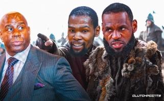 Magicas: LeBronas dar metus bus pagrindinis NBA, vėliau lyga taps Duranto