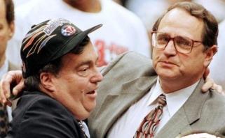"""""""Bulls"""" savininkas: J.Krause'as neturėjo sakyti, kad Ph.Jacksonas pasitrauks, net jei bus rezultatas 82:0"""