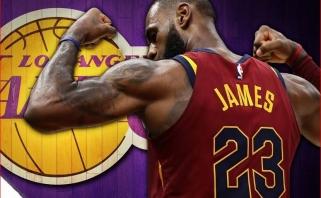 """Po žinios apie L.Jameso sprendimą žaibiškai pakilo """"Lakers"""" bilietų kainos"""