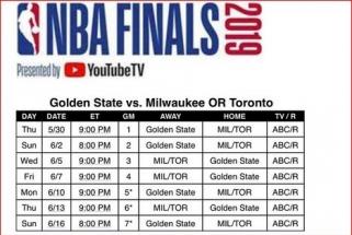 NBA paskelbė finalo tvarkaraštį