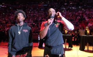 """Majamis atsisveikino su paskutinį mačą """"Heat"""" arenoje sužaidusiu Wade'u (rezultatai)"""