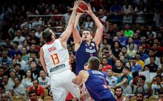 Ispanai įveikė be išvaryto N.Jokičiaus likusius serbus, paaiškėjo pirmosios ketvirtfinalio poros