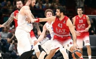 """""""Emporio Armani"""" su M.Kalniečiu be lyderių žaidusiai CSKA priešinosi tik du kėlinius"""
