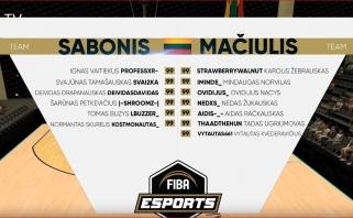 Dramatiškame finale Sabonis nugalėjo Mačiulį - paaiškėjo Lietuvos esporto rinktinės sudėtis