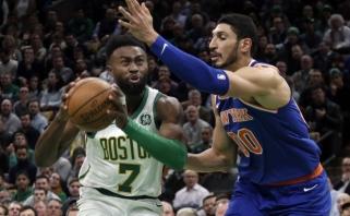 """Ketvirtame kėlinyje atitrūkę """"Celtics"""" atsirevanšavo """"Knicks"""" (rezultatai)"""