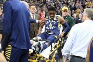 """Liūdna žinia """"Pacers"""" ir Saboniui - sunkią traumą patyręs lyderis šį sezoną nežais"""
