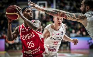 Serbai namie sensacingai nusileido Gruzijai, slovėnai ir rusai iškovojo pirmąsias pergales