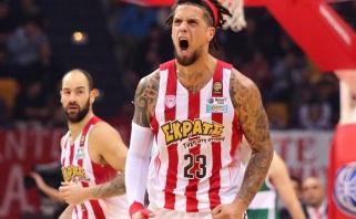 """""""Olympiakos"""" D.Hackettas nepadės ne tik mače Kaune, o ir visą likusį sezoną"""