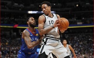 """Motiejūno atstovaujami """"Spurs"""" Denveryje įveikė serijos favoritus """"Nuggets"""""""
