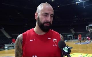 """""""Crvena Zvezda"""" lyderiai T.Rochestie ir P.Antičius apie areną ir spaudimo nebuvimą"""