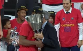 Eurolygos čempionų titulą susigrąžino CSKA klubas, MVP - W.Clyburnas