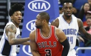 """NBA: B.Griffino sugrįžimas, A.Wigginso šūvis su sirena ir svarbi """"Bulls"""" pergalė"""