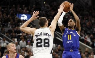 """Geriausią mačą San Antonijuje sužaidęs Motiejūnas ir """"Spurs"""" neatsilaikė prieš """"Nuggets"""""""