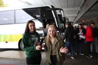 """Į pirmąjį Eurolygos mačą - linksma kelionė """"Žalgirio ekspreso"""" autobusais"""
