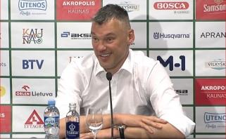 Apie sūnaus pergalę pokštavęs Š.Jasikevičius įvertino atkrintamųjų pokyčius: katastrofa