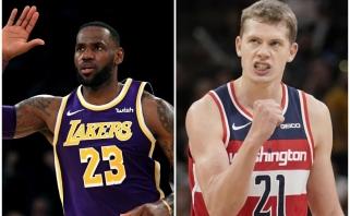 """LeBronas pratęsė pergalingą """"Lakers"""" žygį, """"Wizards"""" vokietis užfiksavo istorinę statistiką"""