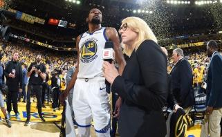 """Finalo vertame mūšyje - pirmoji """"Warriors"""" pergalė prieš """"Rockets"""""""
