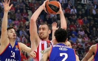 """""""Olympiacos"""" Eurolygos ketvirtfinalio seriją pradėjo įtikinama pergale"""