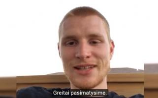 A.White'as dėkoja sirgaliams ir nekantrauja pasirodyti Kaune (video interviu)