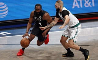 """Ryškiai spindėjęs """"Nets"""" žvaigždynas ketvirtą kartą nustelbė """"Celtics"""" kompaniją"""