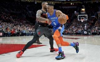 """Pacers"" be Sabonio krito Milvokyje, drama Portlande baigėsi ""Thunder"" triumfu"