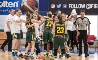 Šešiolikametės palaužė baltaruses ir Europos čempionate kovos dėl 5-os vietos