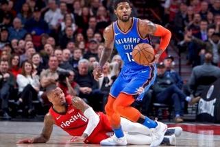 """Įspūdingas George'o žaidimas išgelbėjo """"Thunder"""" Portlande, """"Lakers"""" krito prieš """"Knicks"""""""