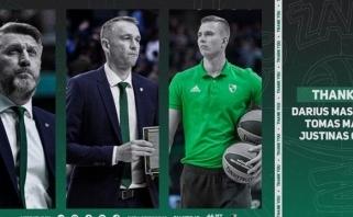 """D.Maskoliūnas ir dar du """"Žalgirio"""" trenerių štabo nariai keliauja paskui Š.Jasikevičių"""
