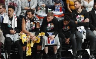 """""""Spurs"""" ir D.Motiejūno sezonas pakibo ant plauko, Rytuose paaiškėjo pusfinalio dalyviai"""