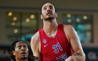 Sunkiai CSKA pritampantis K.Koufos išvyko į JAV
