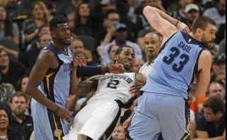 """K.Leonardo vedami """"Spurs"""" antrą kartą užtikrintai įveikė """"Grizzlies"""""""