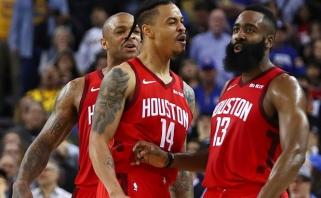 Tikrasis NBA grožis: Hardenas fantastišku tritaškiu išplėšė pergalę prieš čempionus