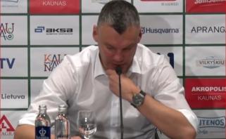 """Š.Jasikevičius paaiškino nelengvą pergalę prieš """"Lietkabelį"""""""