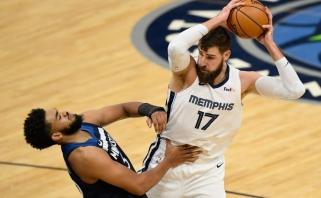 Valančiūnas negalės žaisti – vėl dėl NBA COVID-19 protokolo