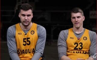 """""""Vienas ant vieno"""": kuris iš """"Šiaulių"""" krepšininkų geriau išmano statistiką?"""