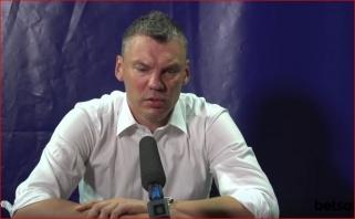 """Auklėtinių motyvaciją kvestionuojantis Š.Jasikevičius: man šitas """"Žalgiris"""" nesižiūri"""