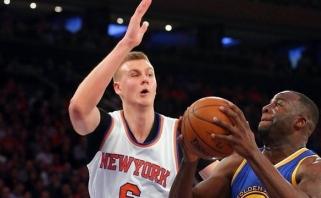 """""""Knicks"""" su K.Porzingiu nesustabdė čempionų pergalingo žygio (rezultatai, statistika)"""